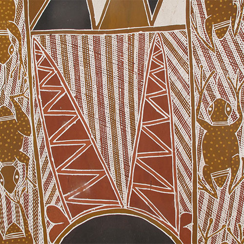 aboriginal bark painting artwork for sale australia