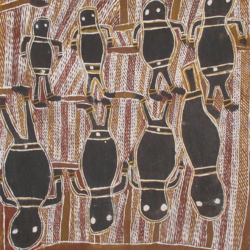 old aboriginal bark painting artwork for sale australia milingimbi