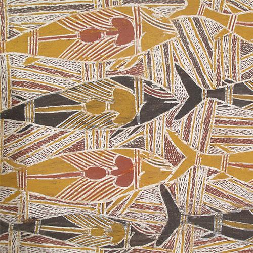 old aboriginal bark painting artwork for sale australia wandjuk marika