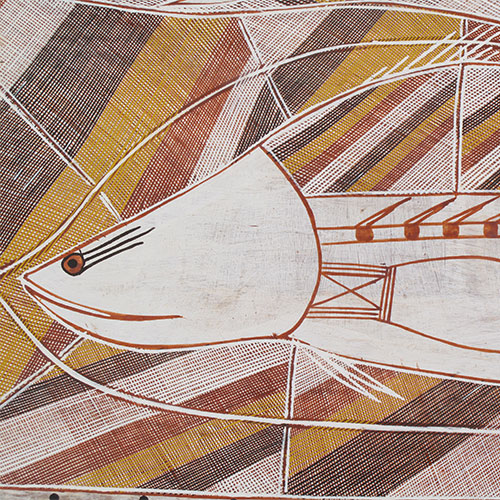 aboriginal bark painting artwork for sale australia maningrida