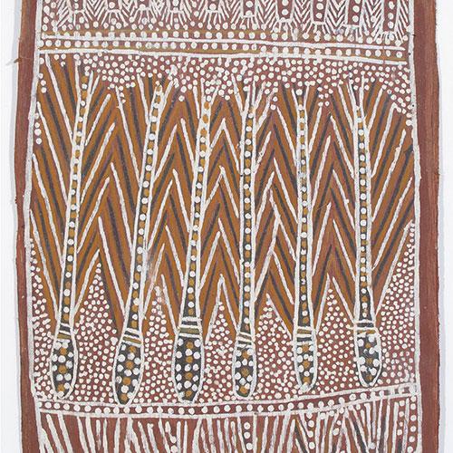 old aboriginal bark painting artwork for sale australia milingimbi ramingining